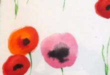 人気の水彩調花柄カーテンで窓辺を明るく!