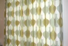 北欧テイストのカーテンでナチュラルモダン