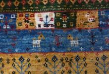羊毛100%の絨毯、ギャッベ