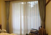 防炎加工のカーテン
