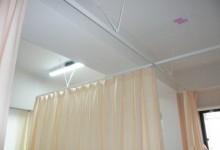 業務用カーテンもお任せ!吊りレールカーテンの施工例