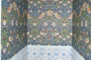 ウィリアムモリスの壁紙でトイレや洗面台を華やかに!