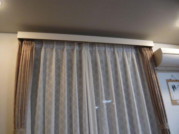 ノイボックスにカーテンを吊り込んだ様子